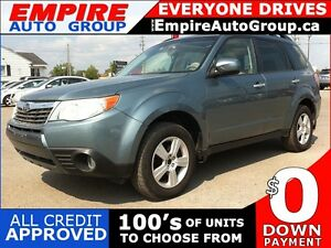 2009 SUBARU FORESTER 2.5X * AWD * $0 DOWN LOANS * ALL CREDIT