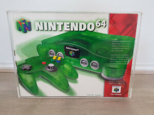 Nintendo 64 JUNGLE GREEN CONSOLE BOXED MD N64 RARE AUS PAL