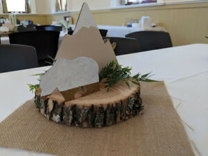 Kid's Birthday Centerpiece/Decor - Rustic/Mountain Theme