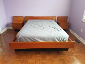 6 PIECE TEAK BEDROOM SET