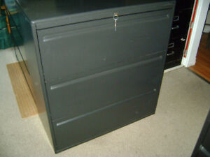 "3-DRAWER ""HAWORTH"" LATERAL FILING CABINET"