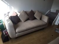 URGENT 3 seat sofa ,snuggle chair and foot stool