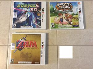 3 jeux neuf pour la 3ds