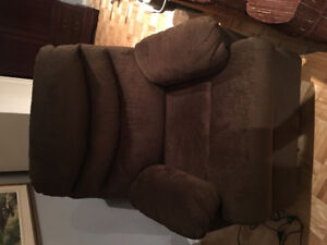 Electric recliner Brown chair