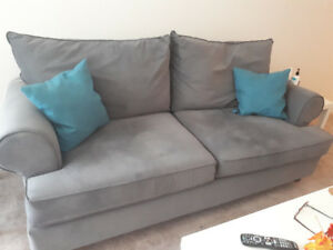 Immaculate microfiber couch for sale