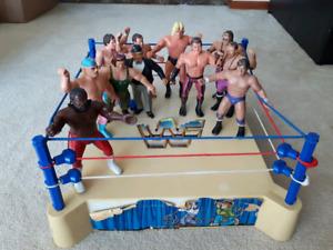 LJN Superstars wrestling ring and figures