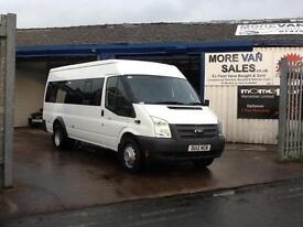 2012 1 owner Ford TRANSIT 17 seat minibus 2.2 tdci 135b T430 RWD