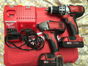 Milwaukee 18v cordless drill and impact driver