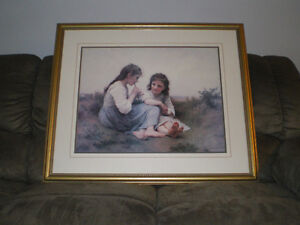 """""""A Childhood Idyll"""" Classic print by William-Adolphe Bouguereau. London Ontario image 1"""