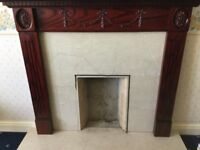 Marble fireplace with Timber Surround