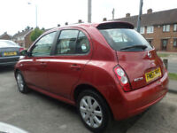 2008 Nissan Micra 1.4 16v Auto Acenta+ 5DR 57 REG Petrol Red
