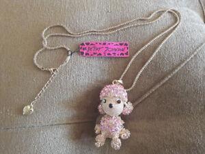 Betsy Johnson Poodle Pendant-New