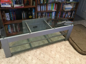 Tempered Glass T. V. Electronics table