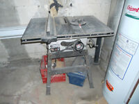 """Table Saw Brand: Rockwell 9"""" Blade Length: 32"""", Width: 22 ½"""", He"""