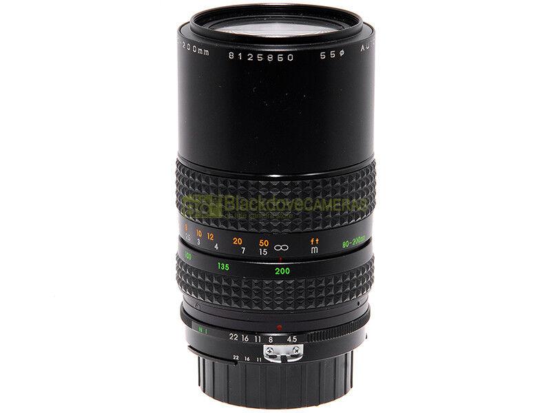 Makinon 80/200mm. f4,5 MC Macro 1:4 obiettivo zoom per fotocamere Nikon AI.
