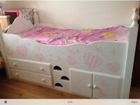 Chartley furniture s hand painted mid sleeper bed