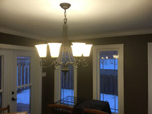 Chandeliers, hanging lights, wall sconces, hall light