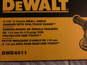 DEWALT DWE4011 4-1/2-Inch Small Angle Grinder with One-Touch Gua