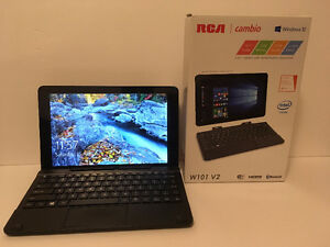 "RCA Cambio W101 V2 10"" Windows tablet with detachable keyboard"