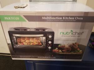 Nutrichef multi function kitchen oven/rotisserie. BRAND NEW.