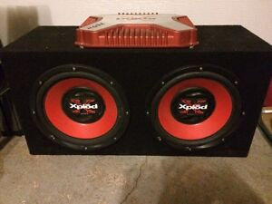 "Amp and 2x 12"" Subs, Sony Xplod"