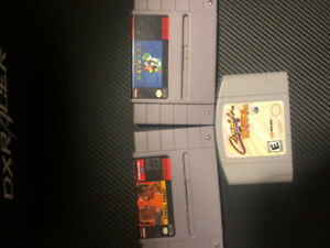 Assorted Nintendo 64 and Snes Games