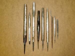 Vintage Machinist Tools - Bearing Scrapers, etc.