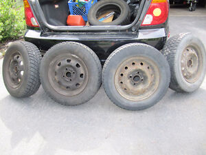 4 winter tires on rims - fit Hyundai Accent