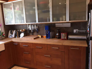 Complete Ikea kitchen, cabinets, countertops