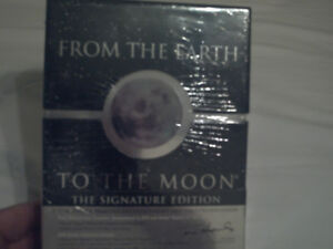 dvds box set from the earth to the moon never opened $40