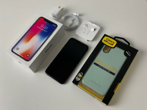 *LIKE NEW* iPhone X 64GB (  OtterBox Case, Accessories,