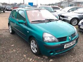2004/04 Renault Clio 1.5dCi 65 ( a/c ) Dynamique LONG MOT EXCELLENT RUNNER