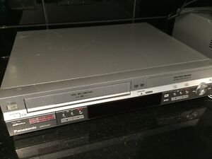 Panasonic VHS and DVD player and recorder combo