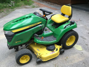 John Deere lawn tractor with cart & snow blower!