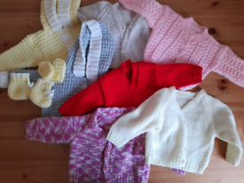 Knitted baby cardigans