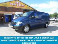 2011 60 MERCEDES-BENZ VITO 2.1 111 CDI LONG 116 BHP 2011/60 REG 1 LEASE OWNER V