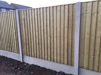 🔨🌟New Wooden Garden Fence Panels Tanalised Vertical Board Flat Top