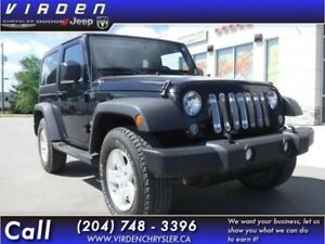 2014 Jeep Wrangler Sport **LOW KMS!! REMOVEABLE TOP!!**