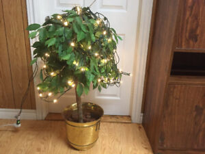 Large artificial plant with pot