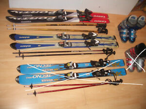 "SET : Skis alpin 120 cm """" ELAN "" + poles  +  boots  3- 4- 5 US"