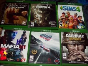 XBOX ONE GAMES SELLING ALL 8 TOGETHER IN NEW CONDITION $150.00