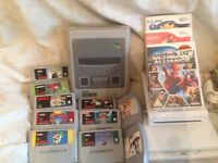 Job lot of Super Nintendo with 8 games & wee console & 5 games & 2 N64 games