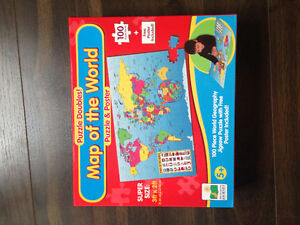 Map of the World PUZZLE and poster