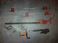 Assorted Wood Clamps