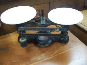 Antique scales with porcelain stands Kingston Kingston Area image 3