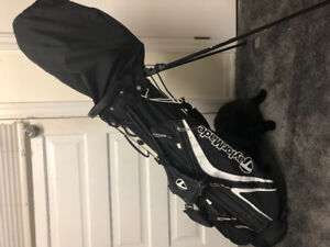 Taylormade golf bag ping driver and clubs for sale (pre owned)