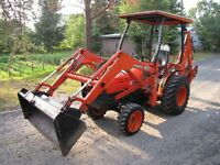 Kubota B-21 loader, backhoe and Kubota with cab, loader