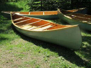 New Handcrafted Wood Canvas Canoe