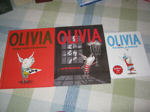 3 Olivia  books..one is a Christmas story...