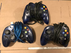 3 x original Xbox controllers (2 xbox, 1 after market)
